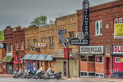 Biker Bar Street Poster by Rick Mann