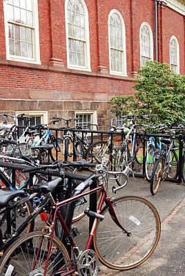 Bikes At Harvard Poster by James Kirkikis