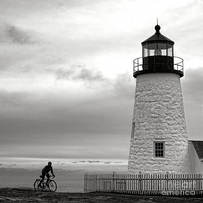 Biking At Pemaquid Poster
