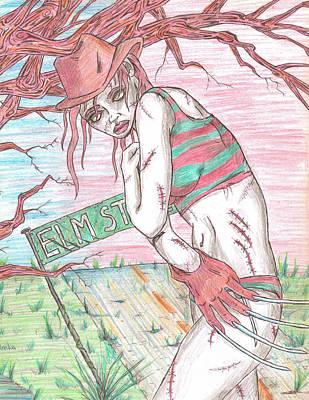 Bikini Freddy Poster by Michael Toth