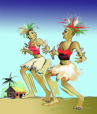 Bikutsi Dance In Cameroon 05 Poster by Emmanuel Baliyanga