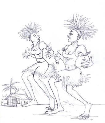 Bikutsi Dance In Cameroon 04 Poster by Emmanuel Baliyanga