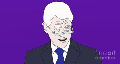 Bill Clinton Poster by Priscilla Wolfe