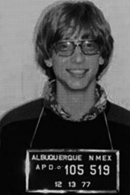 Bill Gates Mug Shot Vertical Black And White Poster by Tony Rubino
