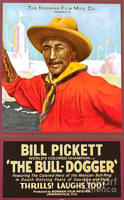 Bill Pickett 'bull Dogger' Poster by Pg Reproductions