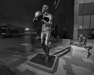 Bill Russell Statue City Hall Plaza Fanueil Hall Boston Ma Fanueil Hall Poster by Toby McGuire