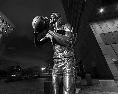 Bill Russell Statue City Hall Plaza Fanueil Hall Boston Ma Poster by Toby McGuire