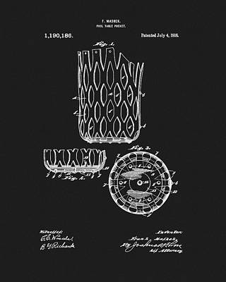 Billiards Table Pocket Patent Poster