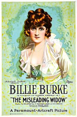 Billie Burke In The Misleading Widow 1919 Poster by Mountain Dreams