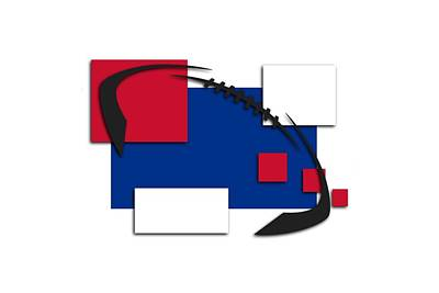 Bills Abstract Shirt Poster by Joe Hamilton