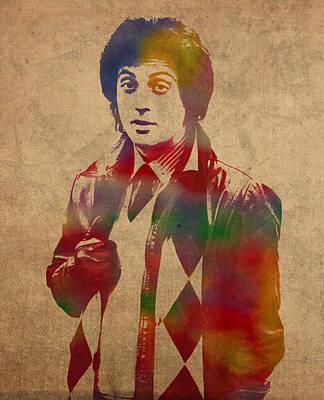 Billy Joel Musician Watercolor Portrait Poster