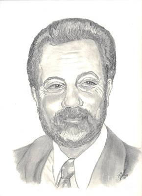 Poster featuring the drawing Billy Joel Portrait by Carol Wisniewski