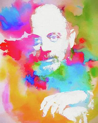 Billy Joel Watercolor Poster by Dan Sproul