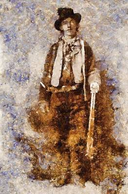 Billy The Kid Poster by Esoterica Art Agency