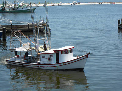 Poster featuring the photograph Bilouxi Shrimp Boat by Cynthia Powell