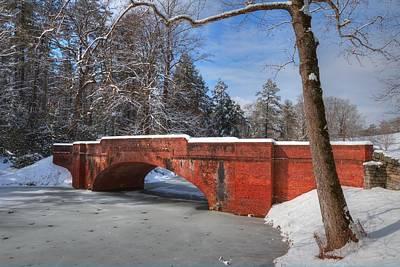 Biltmore Bridge In Snow Poster by Carol R Montoya