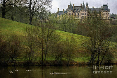 Biltmore Estate At Dusk Poster