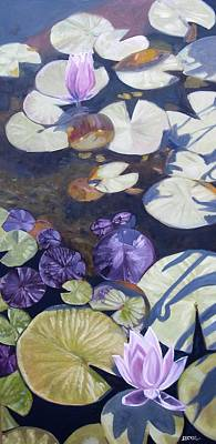 Poster featuring the painting Biltmore Lilypads by Robert Decker