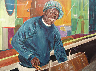 Poster featuring the painting Bing Bang Broadway Blues by Kevin Callahan