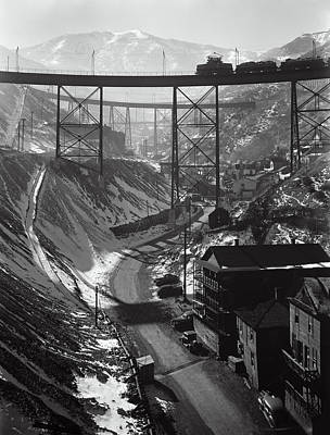 Bingham Copper Mine Utah  1942 Poster by Daniel Hagerman