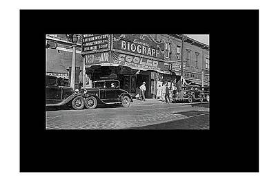 Biograph Theater Advertising Dillinger Newsreel July 1934 Chicago Illinois Frame Added 2015  Poster