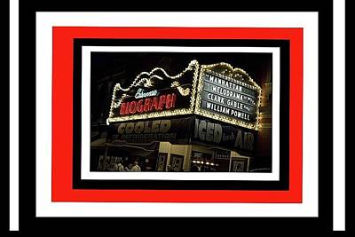 Biograph Theater Redressed For 1934s Public Enemies Publicity Photo Chicago  2008 Frames Added 2015 Poster