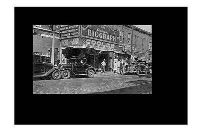 Biograph Theater Six Days After John Dillinger Was Shot Near It Chicago Illinois 1934-2015 Poster
