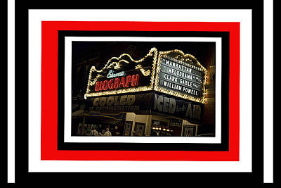 Biograph Theatre Restored For Public Enemies #2  Chicago Illinois 2009-2016 Poster
