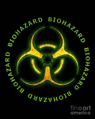 Biohazard Zombie Warning Poster by Chris MacDonald