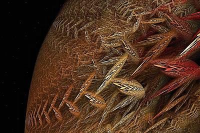 Biosphere Struggle Poster by Doug Morgan