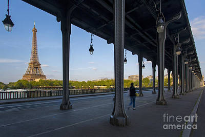 Bir Hakeim And Eiffel Daytime Poster