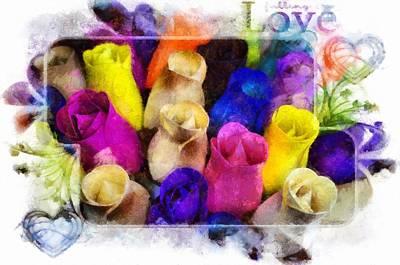 Birch Bark Roses 11 Poster by Cindy Nunn