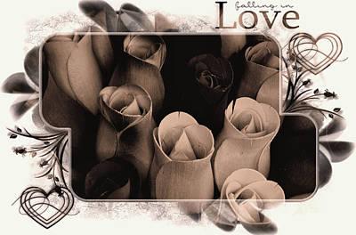 Birch Bark Roses 9 Poster by Cindy Nunn