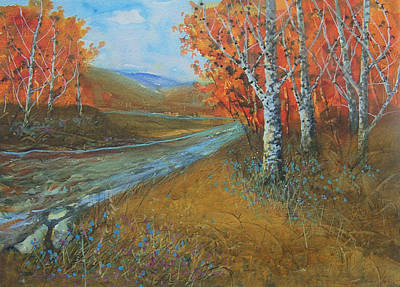 Birch Fall Poster