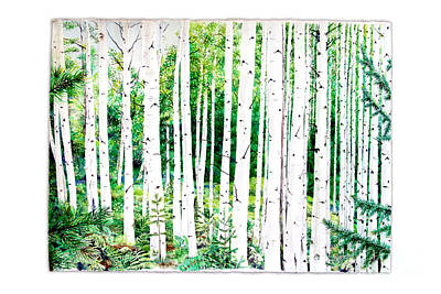 Birch Trees Poster by Jennifer Apffel