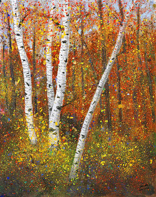 Birches Poster by Garry McMichael
