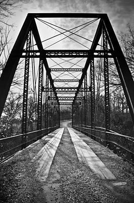 Bird Bridge Black And White Poster