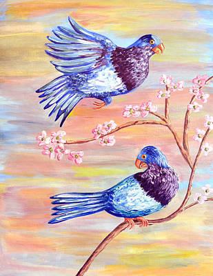 Bird Day Celebrations For Vini Marina Poster by Thecla Correya