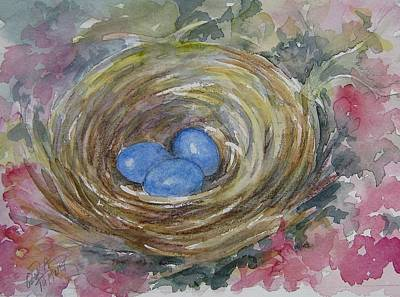 Bird Eggs In Nest Poster