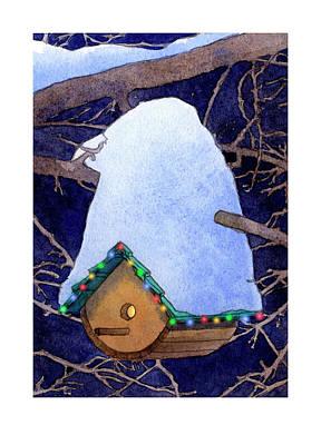 Bird House Christmas Poster