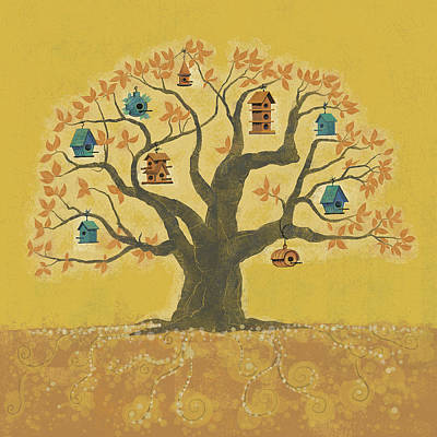 Bird Houses 01 Poster by Dennis Wunsch