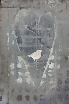 Bird In Heart Poster by Carol Leigh