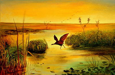 Poster featuring the painting Bird Water by Henryk Gorecki