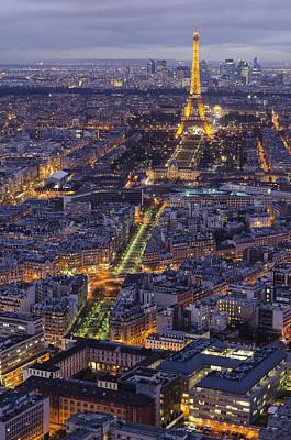 Bird's Eye On Paris 1 Poster by Pablo Lopez