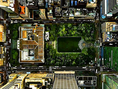 Birds Eye View Bryant Park Manhattan Nyc Poster