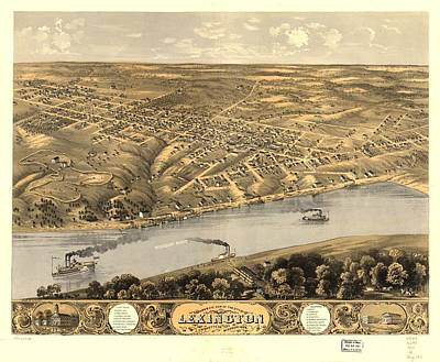 Birds Eye View Of The City Of Lexington Poster by MotionAge Designs
