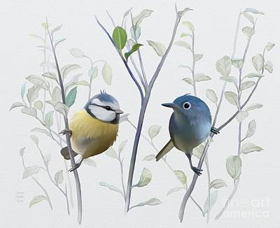 Birds In Tree Poster