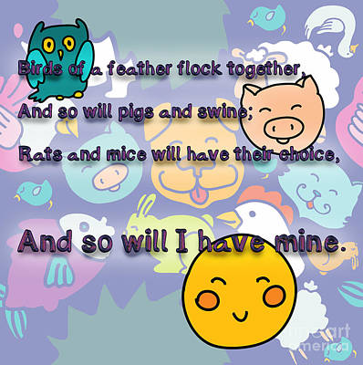 Birds Of A Feather Flock Together Poster by Humorous Quotes