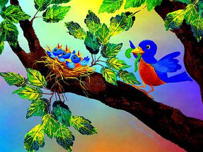 Birdy Baby Breakfast Poster