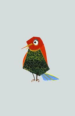 Birdy Poster by Kristina Vardazaryan